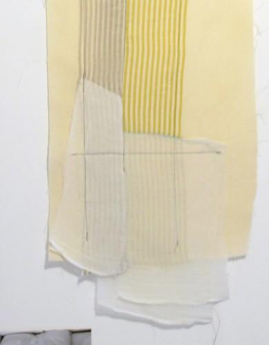 """""""Guilhotina #3"""", 2016 (linha e tecido)"""